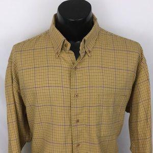Gitman Bros Button Up Shirt Houndstooth beige XL